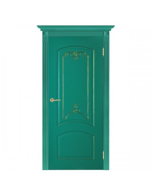 """межкомнатная дверь """"дина-золото"""" (двери в эмали)"""