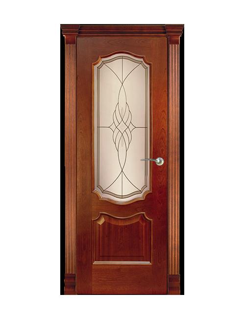"""Межкомнатная дверь """"Ланкона"""" стекло витраж """"Виттори"""""""