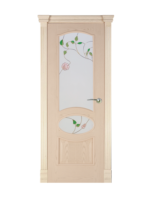 """Межкомнатная дверь """"Элина"""" стекло """"Роза"""""""