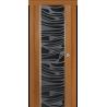 "Межкомнатная дверь ""Палермо"" стекло ""Зебрано"""