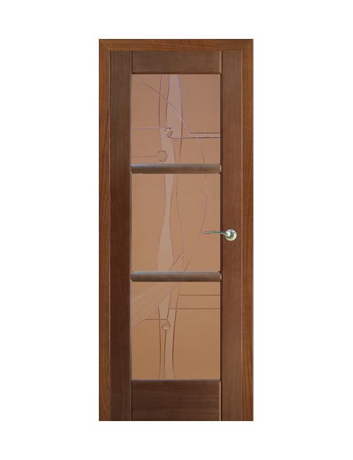 """Межкомнатная дверь """"Рубикон"""" с перемычками """"Абстракция"""""""
