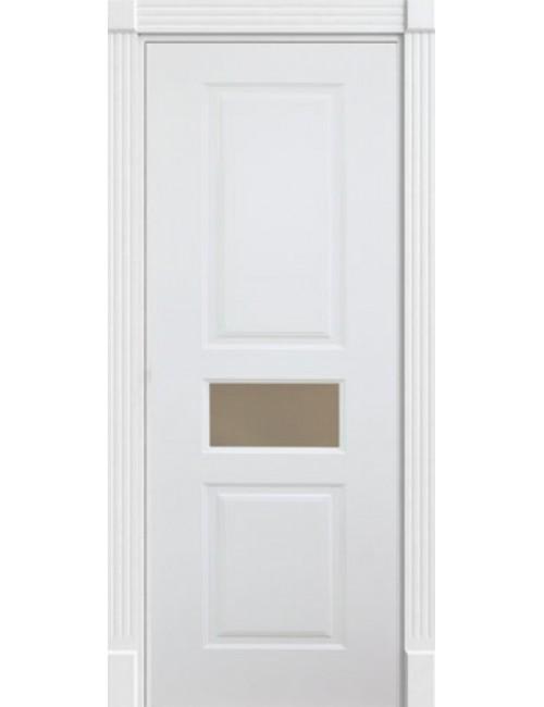 """Межкомнатная дверь """"Британия-3"""" окрашенная (в эмали) стекло по центру"""