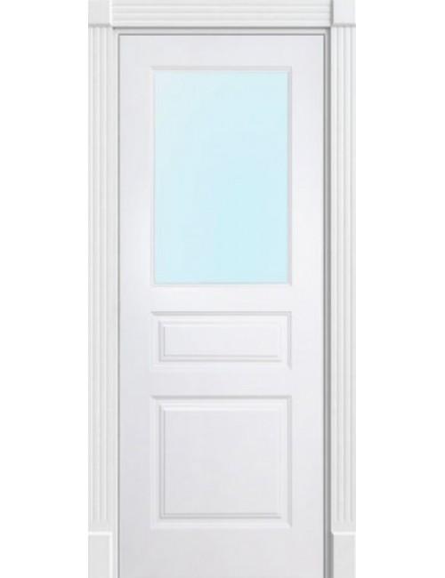 """Межкомнатная дверь """"Британия-3"""" окрашенная (в эмали) стекло 1"""