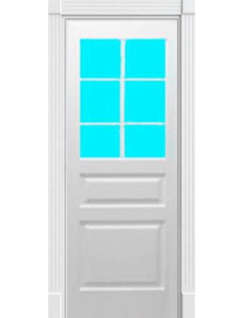 """Межкомнатная дверь """"Британия-3"""" окрашенная (в эмали) стекло с обрешоткой"""