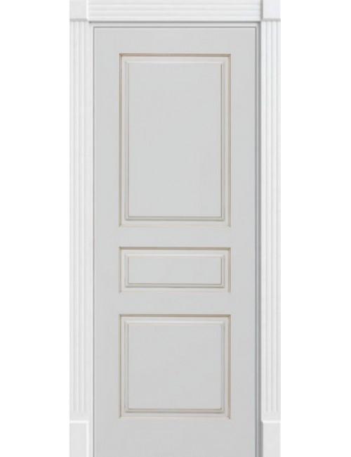 """Межкомнатная дверь """"Британия-3"""" Фрезерованная окрашенная в эмали (под эмалью) с патиной золото"""