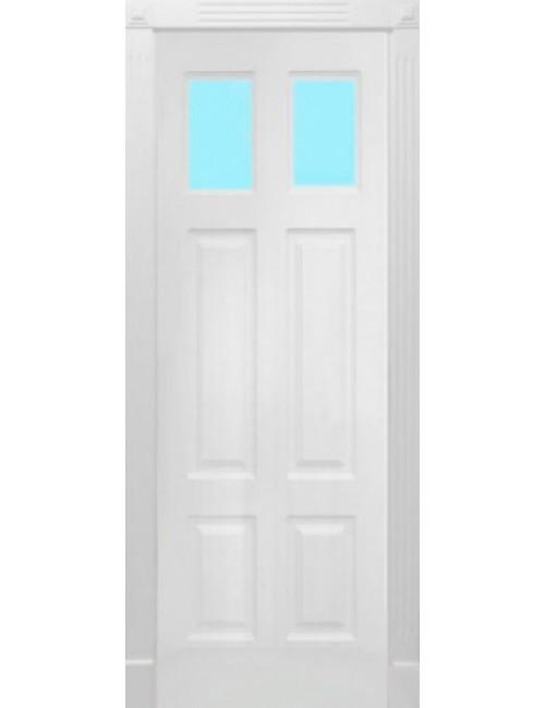 """Межкомнатная дверь """"Американо-1"""" окрашенная в эмали (под эмалью) стекло 1"""