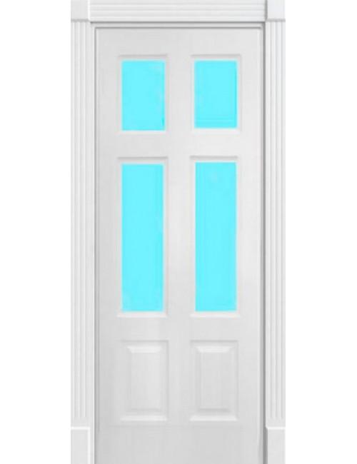 """Межкомнатная дверь """"Американо-3"""" окрашенная в эмали (под эмалью) стекло 2"""