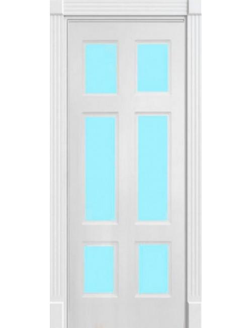 """Межкомнатная дверь """"Американо-3"""" окрашенная в эмали (под эмалью) стекло 3"""