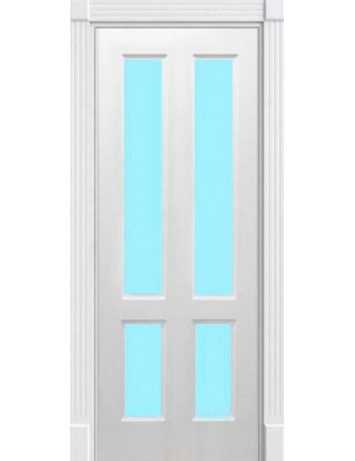 """Межкомнатная дверь """"Американо"""" окрашенная в эмали (под эмалью) стекло 2"""