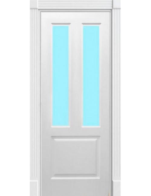 """Межкомнатная дверь """"Европа-2"""" окрашенная в эмали (под эмалью) стекло 1"""
