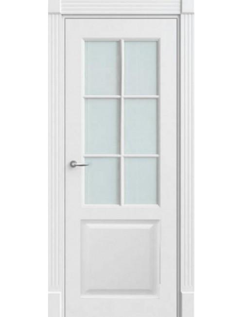 """Межкомнатная дверь """"Британия-2""""Фрезерованная окрашенная в эмали (под эмалью) стекло с обрешоткой"""