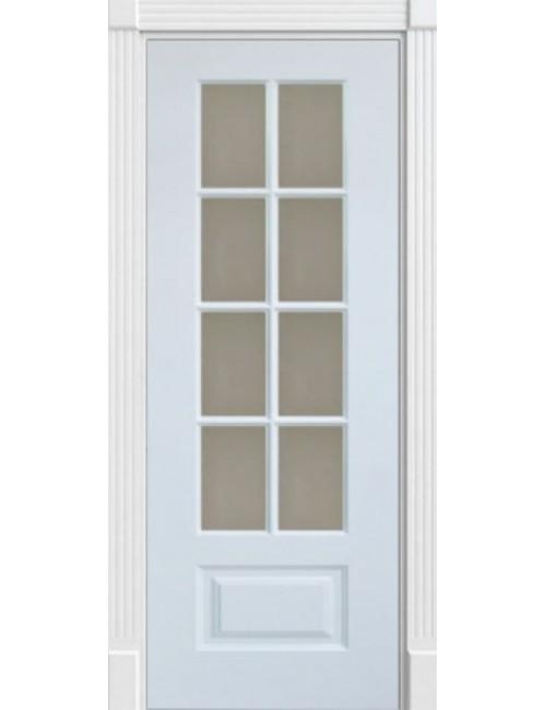 """Межкомнатная дверь """"Лондон"""" окрашенная в эмали (под эмалью) стекло обрешотка"""