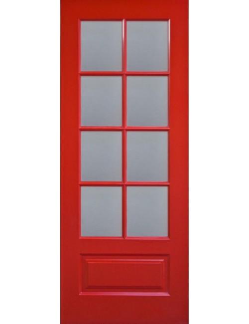 """Межкомнатная дверь """"Лондон"""" окрашенная в эмали (под эмалью) в RAL-е стекло обрешотка"""