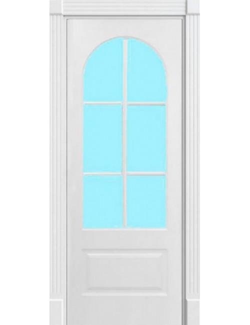 """Межкомнатная дверь """"Арка""""Фрезерованная окрашенная в эмали (под эмалью) стекло обрешотка"""