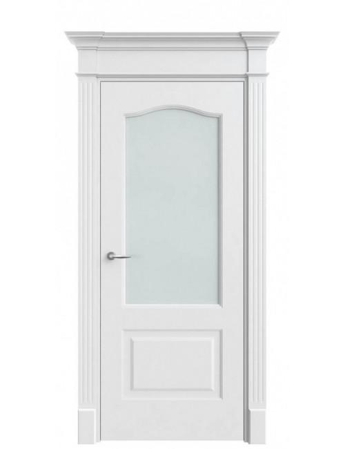 """Межкомнатная дверь """"Дина""""окрашенная в эмали (под эмалью)стекло"""