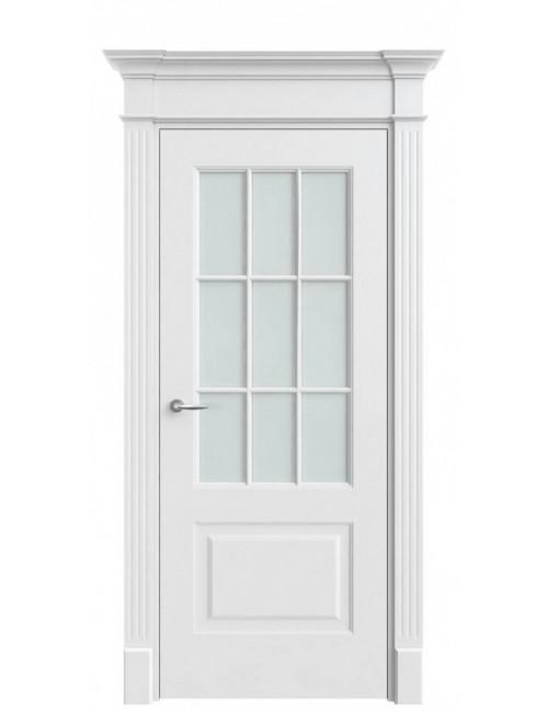"""Межкомнатная дверь """"Классика-2""""окрашенная в эмали (под эмалью)стекло 9"""