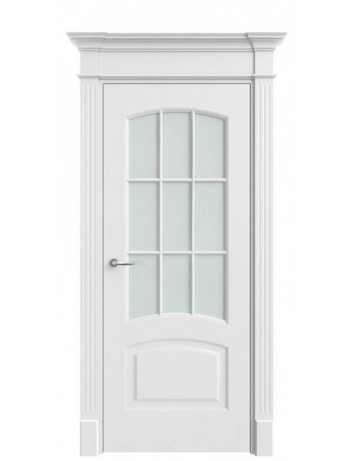 """Межкомнатная дверь """"Классика""""окрашенная в эмали (под эмалью)стекло 9"""