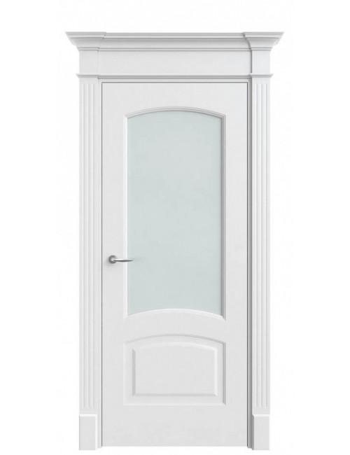 """Межкомнатная дверь """"Классика""""окрашенная в белой эмали (под эмалью)стекло"""