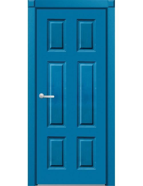 """Межкомнатная дверь """"Американо-3""""окрашенная в синей эмали по RAL (под эмалью)"""