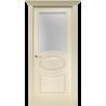 """Межкомнатная дверь """"Симфония""""окрашенная в эмали слоновая кость RAL1013 (под эмалью)стекло"""