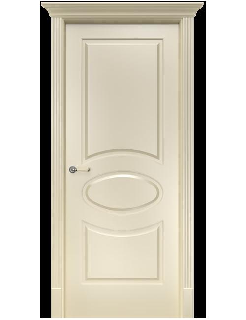 """Межкомнатная дверь """"Симфония""""окрашенная в эмали слоновая кость RAL1013 (под эмалью)"""