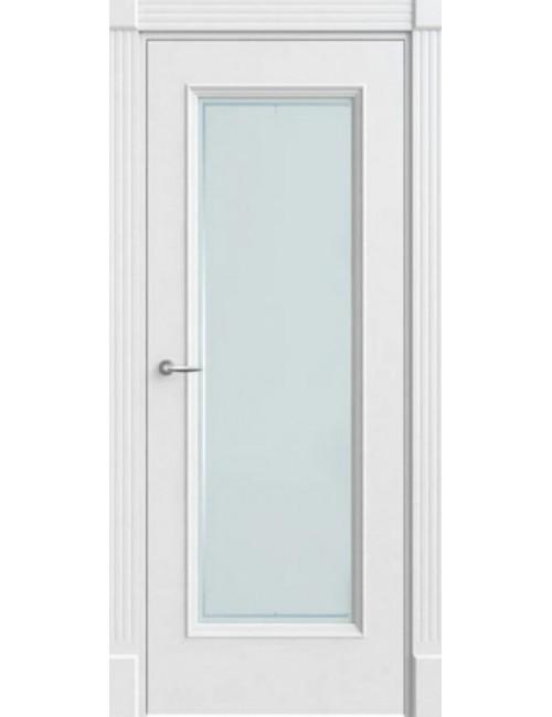 """Межкомнатная дверь """"Прима"""" окрашенная в белой эмали (под эмалью) стекло"""
