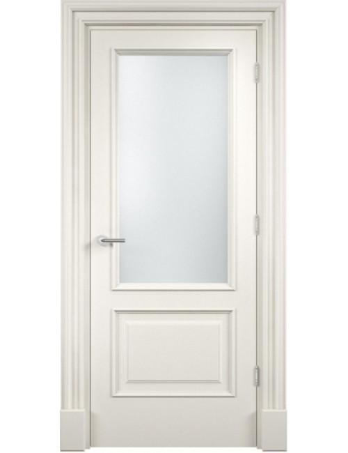 """Межкомнатная дверь """"Британия-2"""" окрашенная в белой эмали (под эмалью) стекло"""