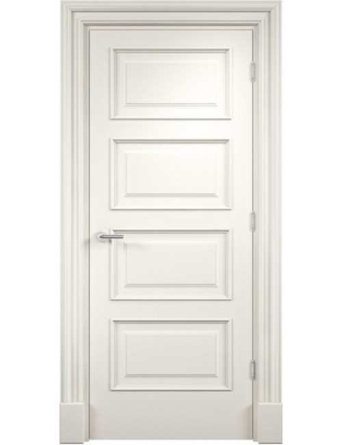 """Межкомнатная дверь """"Прима-4"""" Багет окрашенная в эмали, белые двери (под эмалью)"""