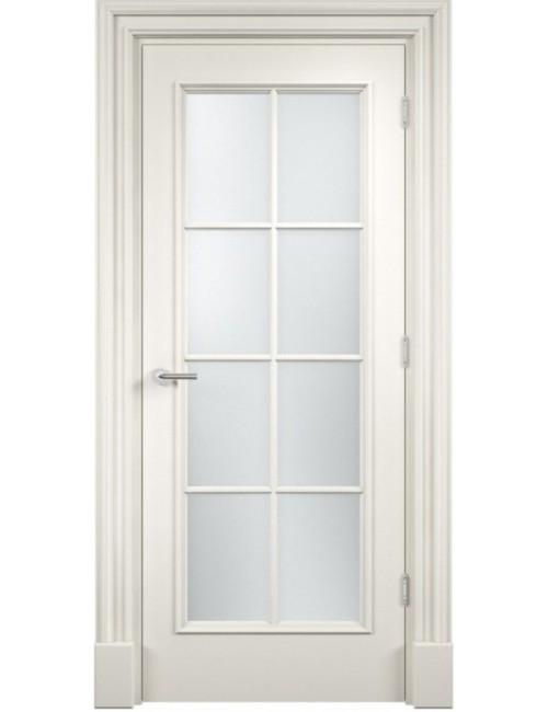 """Межкомнатная дверь """"Прима"""" Багет окрашенная в эмали, белые двери (под эмалью) стекло8"""