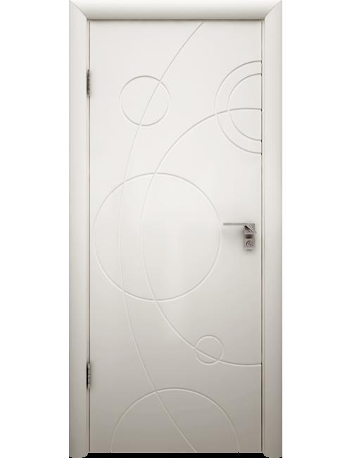 """Межкомнатная дверь """"Космос"""" окрашенная в белой эмали"""