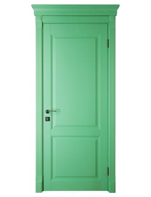 """Межкомнатная дверь """"Британия-2"""" Фрезерованная окрашенная в эмали (под эмалью) RAL 6033"""