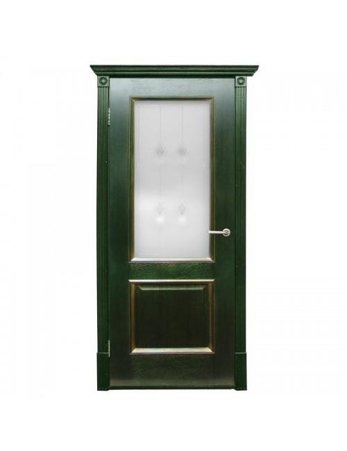 """межкомнатная дверь """"триест по зеленое золото"""""""