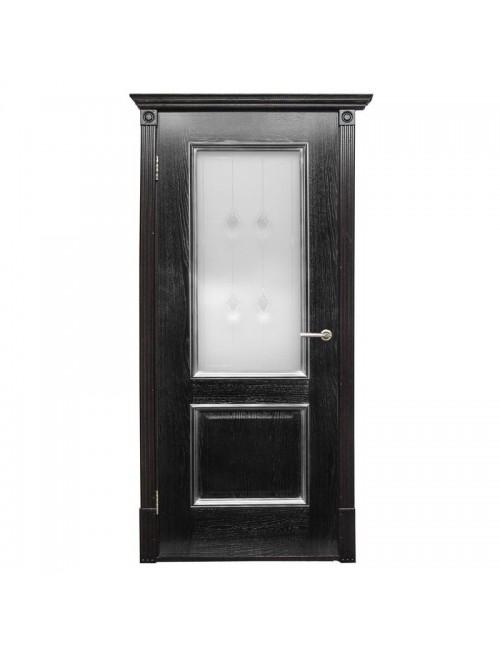 """межкомнатная дверь """"триест по чёрное серебро"""""""